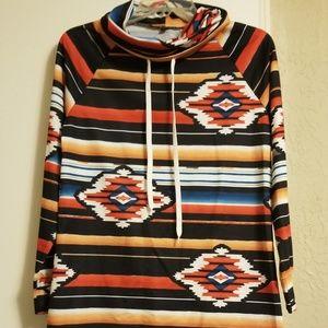 Women Aztec print sweater